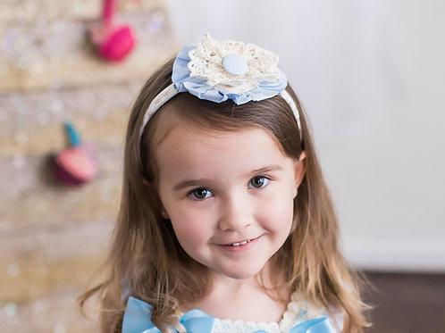 Baby Blue & Creme Lace Lolita Headpiece