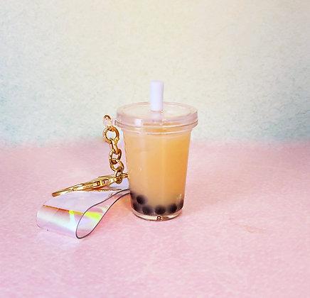 Realistic Boba Tea Keychains