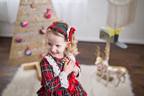 Red Green Plaid Christmas Holiday Lolita Headpiece
