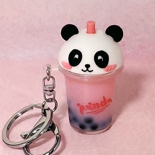 Kawaii Panda Whip Boba Tea Keychains
