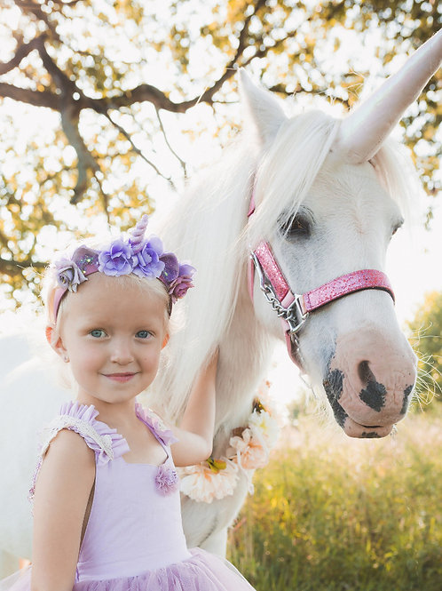 Custom Floral Unicorn Headpiece