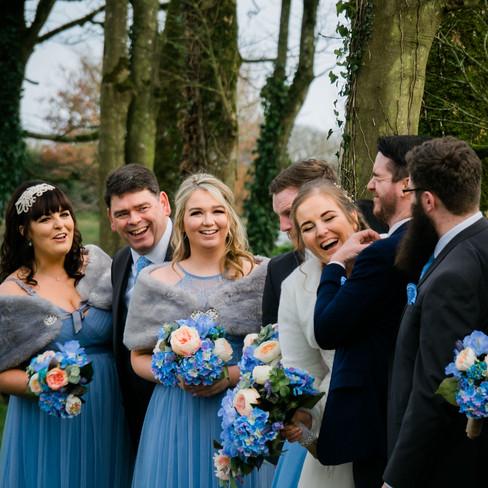 Wedding Clonabreeney House, Co. Meath, Wedding party