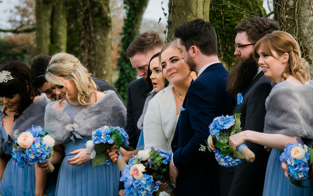 Wedding Clonabreeney House, Co. Meath, Bridal party