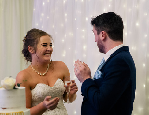 Wedding Clonabreeney House, Co. Meath, Bride & Groom, Cake
