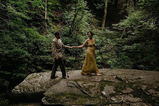 Catskills Mountain NY Wedding at Hemlock Falls Camping: Far Falls