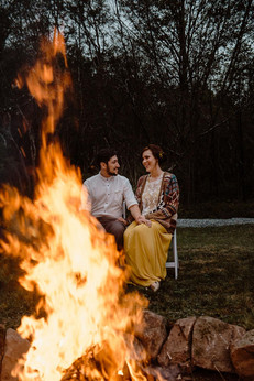 Catskills Mountain NY Wedding at Hemlock Falls Camping: Bonfire