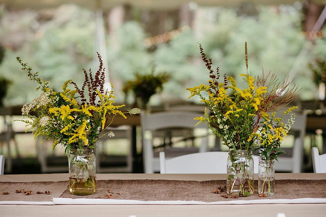 Catskills Mountain NY Wedding at Hemlock Falls Camping: Wildflowers