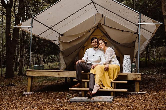 Catskills Mountain NY Wedding at Hemlock Falls Camping: The Glen Campsite
