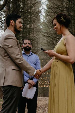 Catskills Mountain NY Wedding at Hemlock Falls Camping: Ceremony