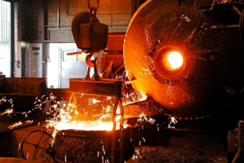 Rotary furnace for iron
