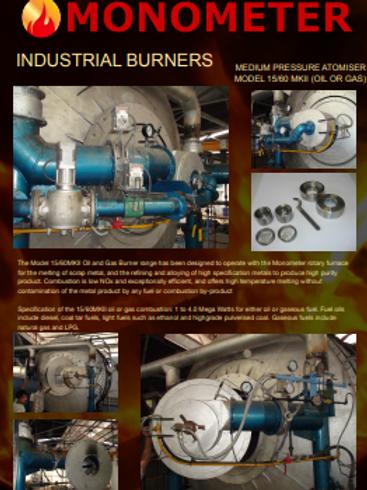 Brochure - Monometer MKII medium pressure atomiser burner