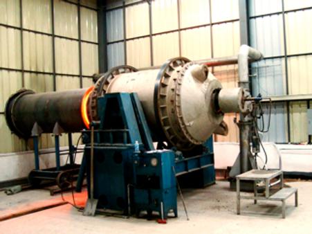 Rotary furnace for brass, copper, gunmetal, bronze