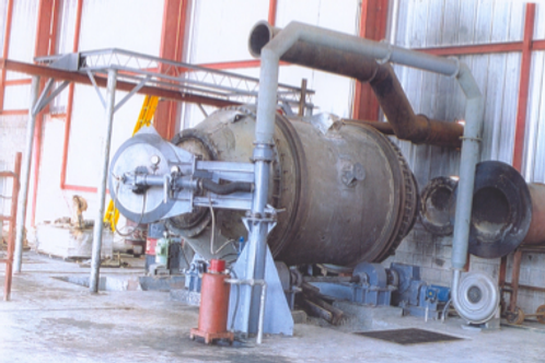 Rotary furnace for lead