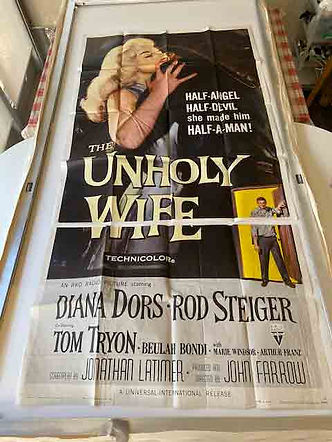 The Unholy Wife Diana Dors US 3-sheet