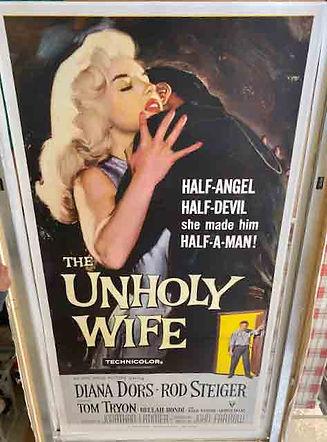 Unholy Wife Diana Dors Rod Steiger original poster
