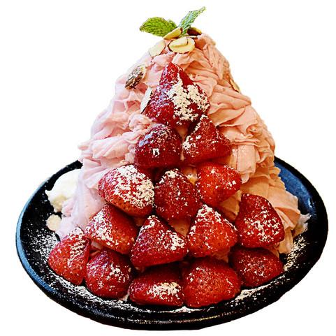 Milky Strawberry Ice Flakes
