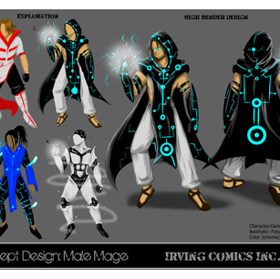 Male Mage Concept Sheet
