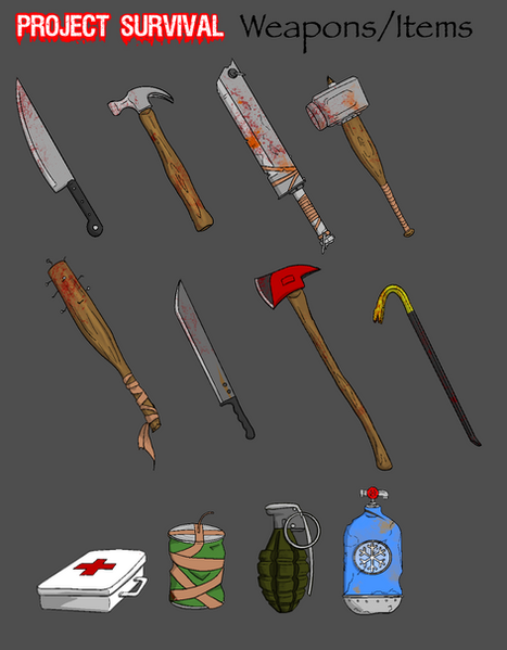 Project Survival Weapons and Items