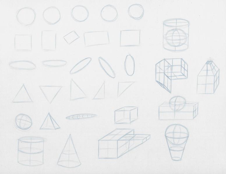 Basic Shapes + 3d + Compound