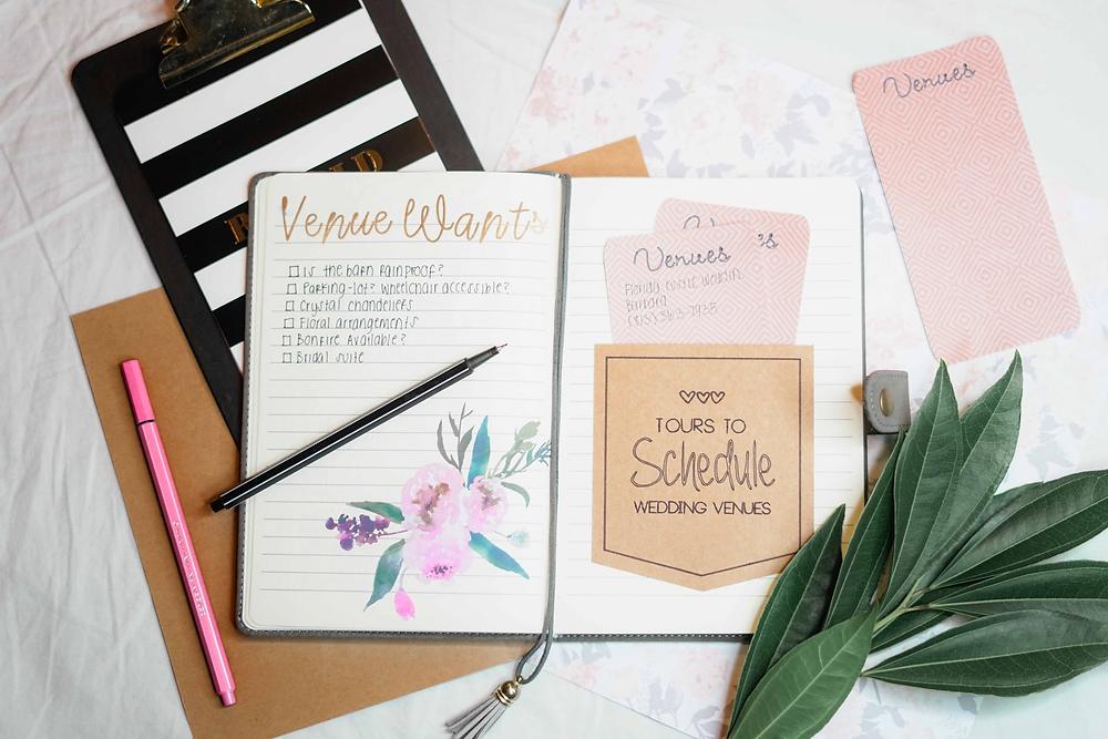 cute wedding planning supplies