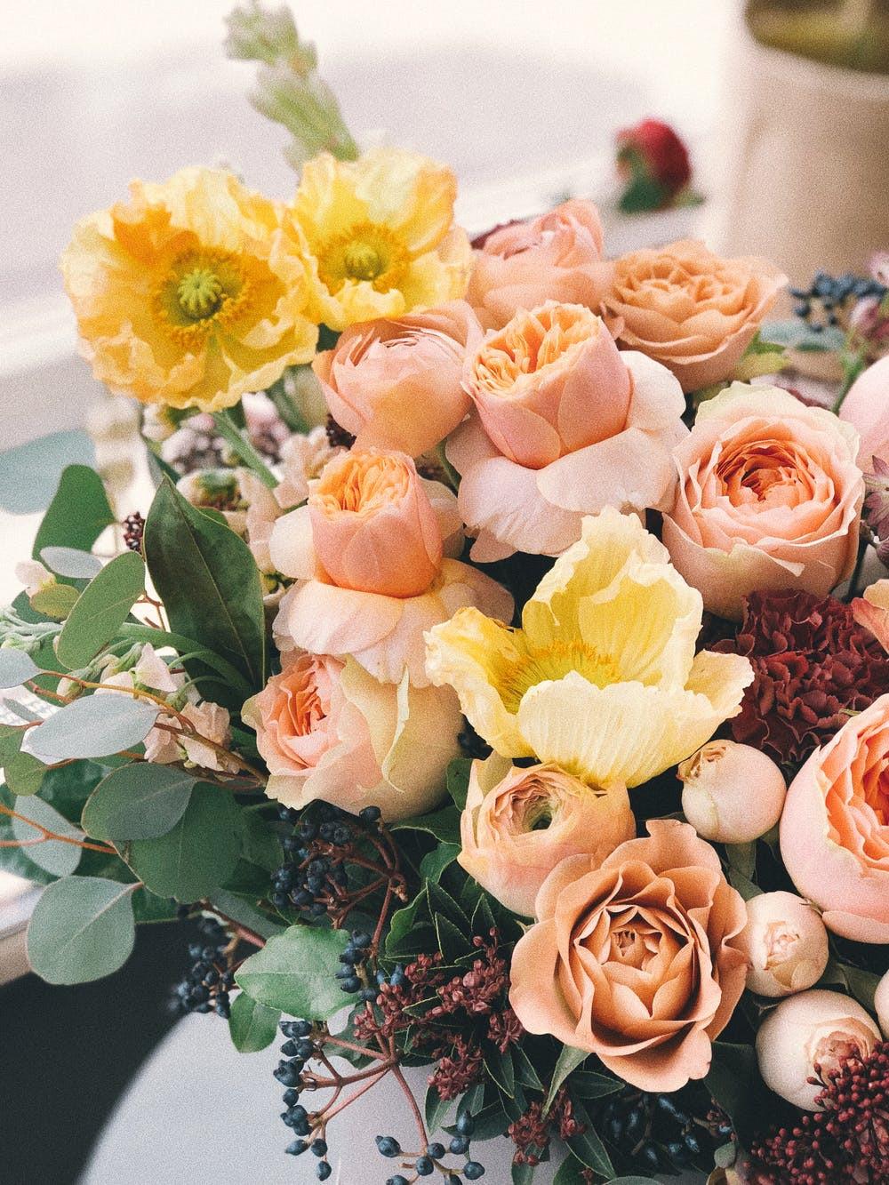 a floral bouquet