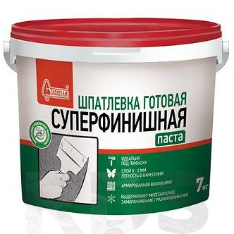 """Шпаклевка готовая """"Суперфинишная """" Старатели 7 кг"""