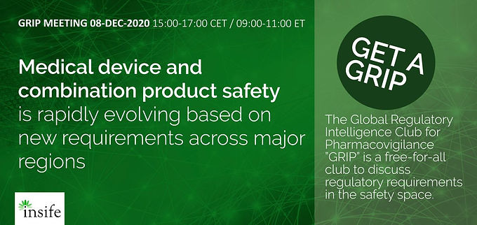 GRIP: Medical Device and Combination Product Safety