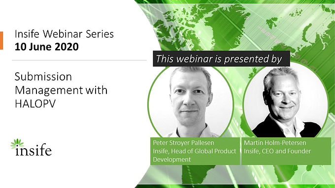 Insife Webinar: Submission Management with HALOPV