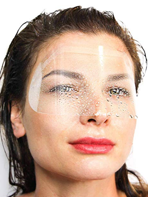 DISPOSABLE EYEBROWS AND EYES PROTECTIVE VISORS