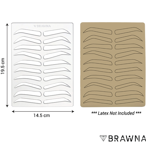 REUSABLE EYEBROW TEMPLATE FOR MICROBLADING PRACTICE SKIN. PREMIUM BROW DRAWING S