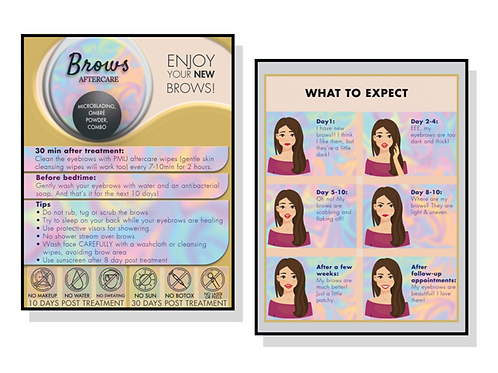 MICROBLADING INSTRUCTIONS CARDS 30 PACK