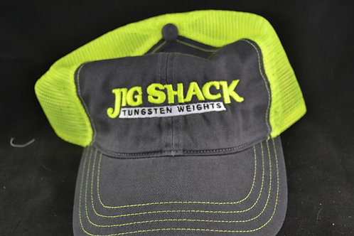 FLUORESCENT yeallow and charcoal hat