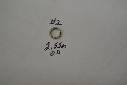 #2 split rings 30 per pack