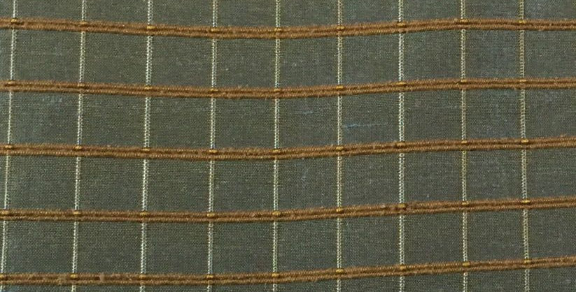 Blue and Gold Silk Fabric Squares