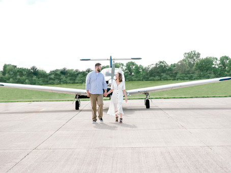 Airport Engagement Session | Indianapolis Wedding Photographer | Clay & Hannah