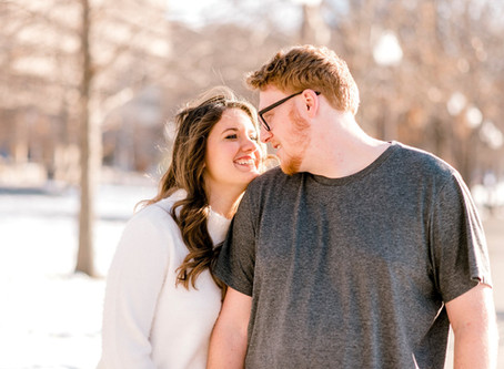 A Downtown Library Engagement Session | Indianapolis Wedding Photographer | Alli & Donnie