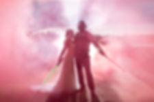 A Star Wars themed bride & groom