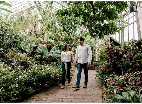 A Botanical Garden Engagement Shoot | Indiana Wedding Photographer | Garfield Park Conservatory