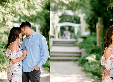 Newfields Engagement Session | Indianapolis Wedding Photographer | Cameron & Cassidy