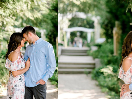 Newfields Engagement Session | Indianapolis Wedding Photographer | Cameron & Cassidy