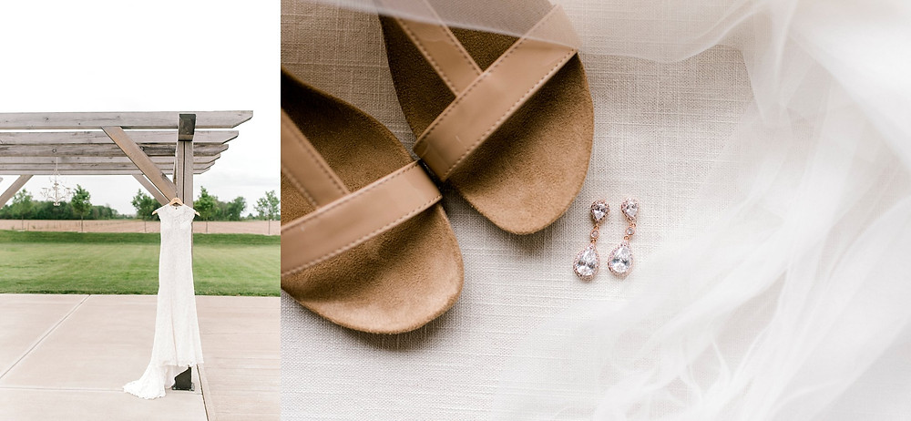brides dress and details