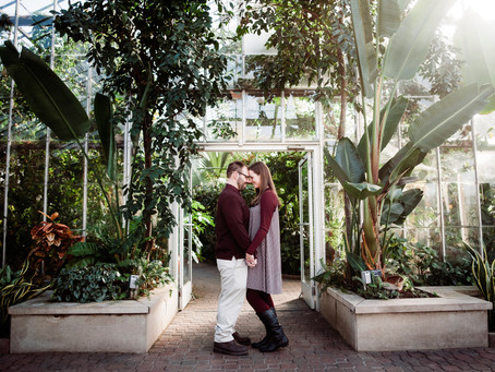 Garfield Park Conservatory Engagement Session | Indianapolis Wedding Photographer | Josh and Kerstin