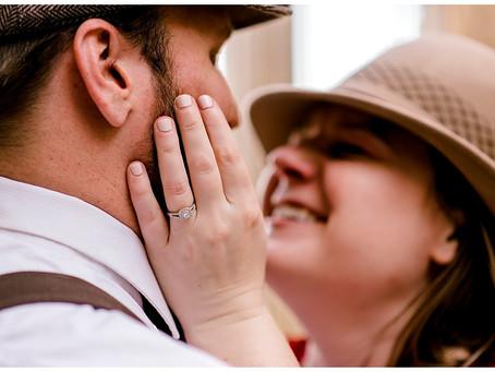 A Vintage Engagement Shoot | Indiana Wedding Photographer | The Stutz Center