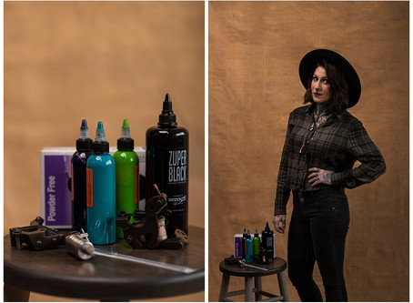 Its A Man's World | Lainy - Tattoo Artist | Indiana Portrait Photographer