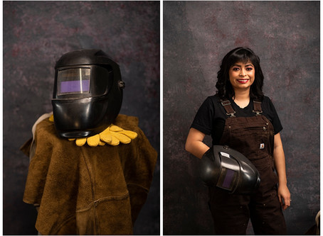 Its A Man's World | Consuelo - Welder | Indiana Portrait Photographer