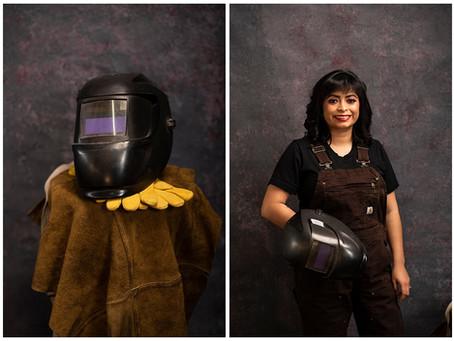 Its A Man's World | Consuelo - Welder | Indiana Portrait Photographer