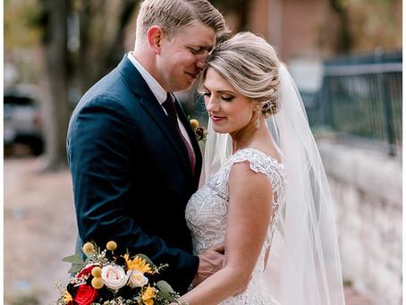 A Fall Downtown Wedding  | Indiana Wedding Photographer | John & Alicia