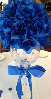 Royal Blue White And Silver Centerpieces | Wedding Tips and Inspiration