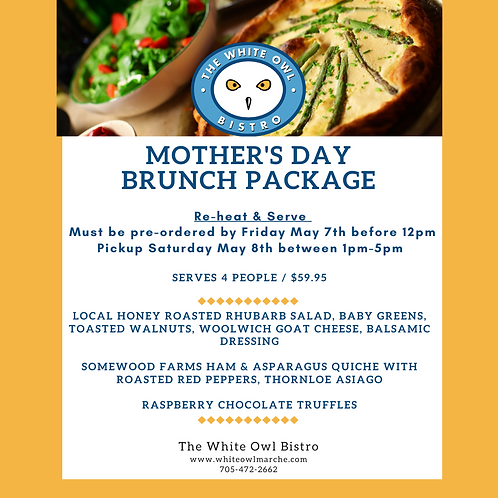 HEAT & SERVE Mother's Day BRUNCH Package-SOLD OUT