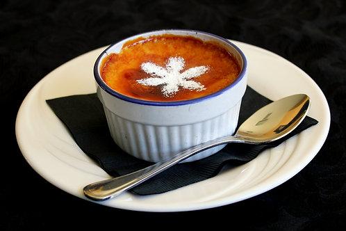 Rhubarb Ginger Crème Brulée